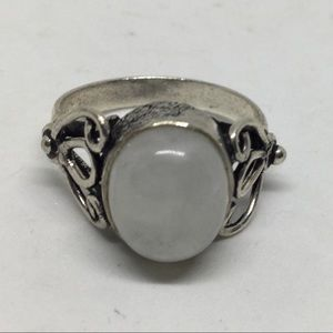 Silver and Moonstone Ring size 8